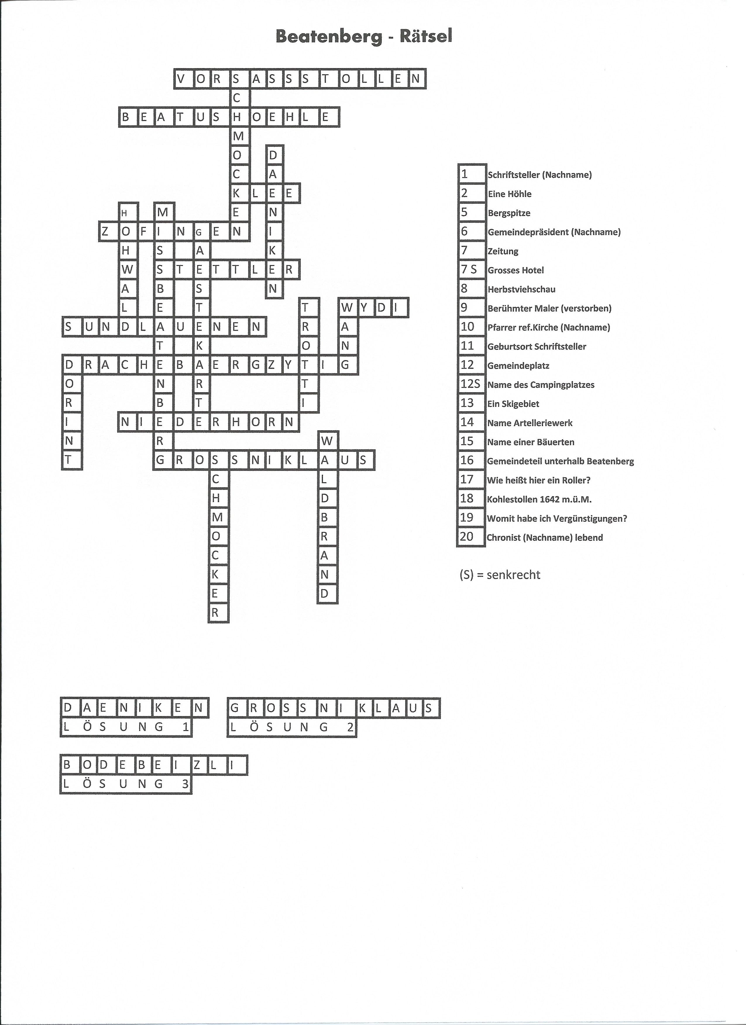 Bild Kreuzworträtsel Lösen